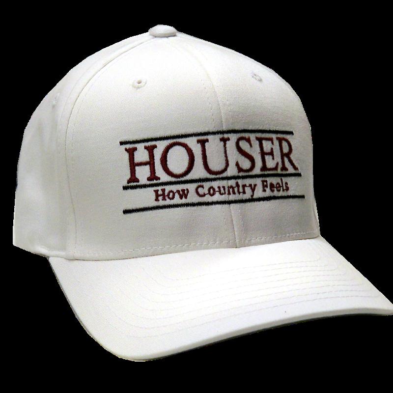 Randy Houser Fitted White Ballcap
