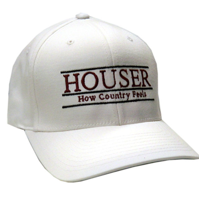 Randy Houser Fitted White Ballcap