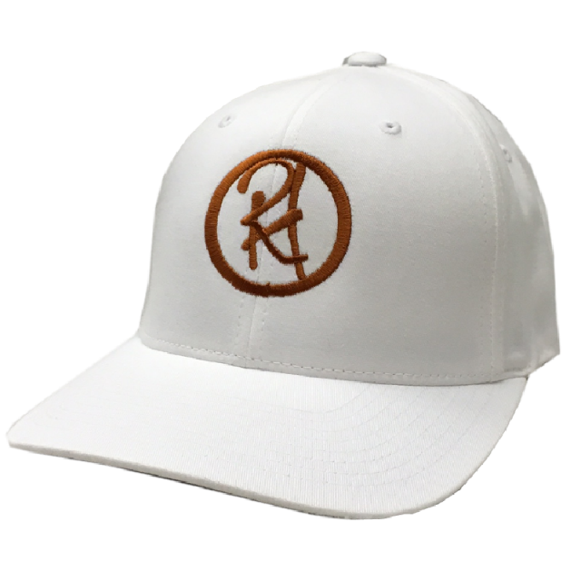 Randy Houser White Fitted Ballcap- Copper Logo