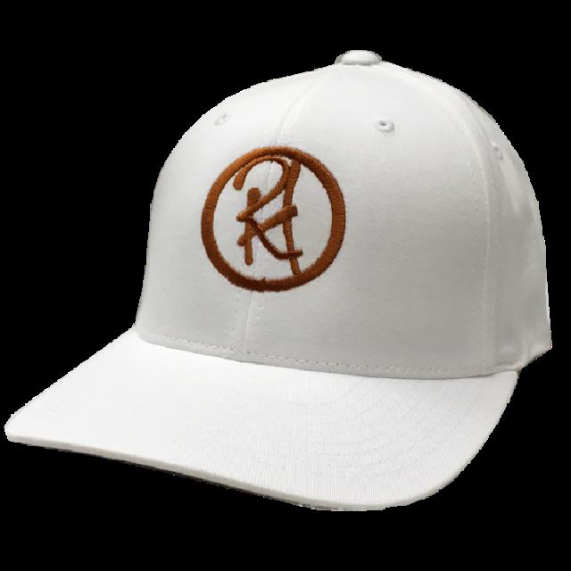 Randy Houser White Fitted Ballcap- Copper Logo